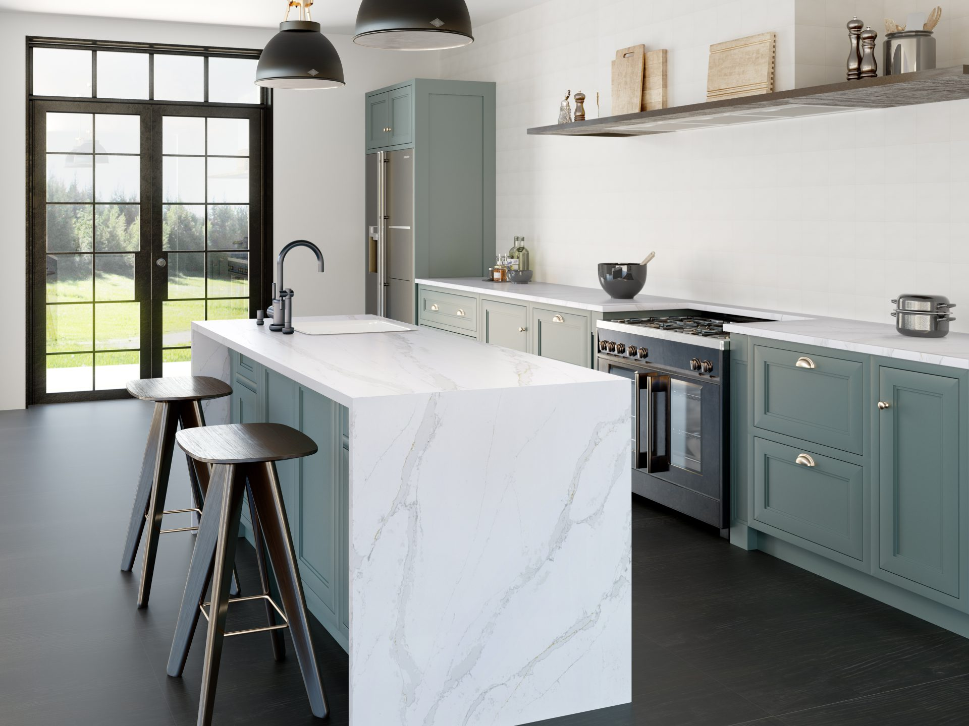 Silestone Kitchen - Eternal Calacatta Gold